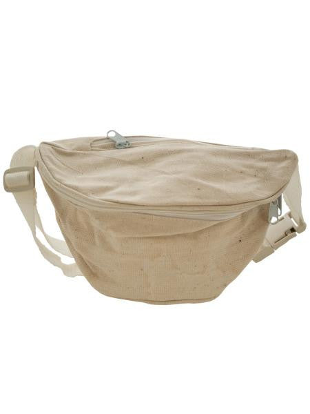 Natural Canvas Fanny Pack (Available in a pack of 20)