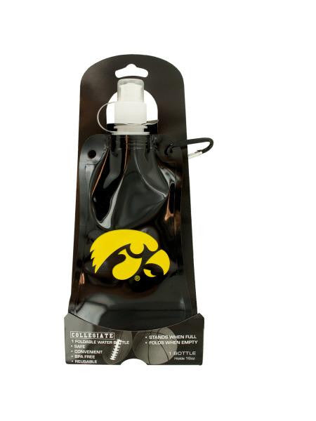 Iowa Hawkeyes Foldable Water Bottle (Available in a pack of 12)