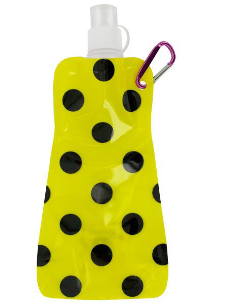 Yellow Polka Dot Reusable Water Bottle (Available in a pack of 24)