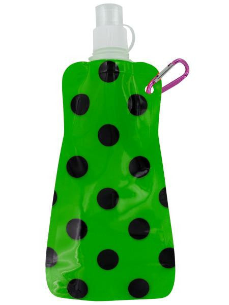 Green Polka Dot Reusable Water Bottle (Available in a pack of 24)