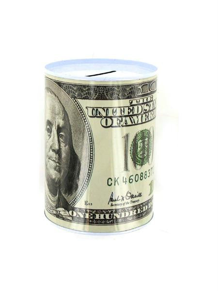 100 Dollar Bill Tin Money Bank (Available in a pack of 24)