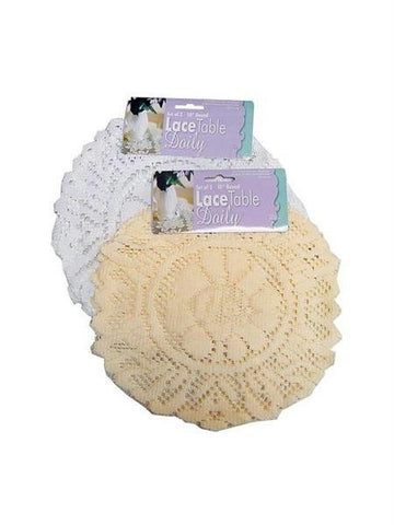 Round Lace Table Doily Set (Available in a pack of 24)