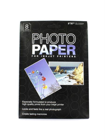 Glossy Photo Paper for Inkjet Printers (Available in a pack of 24)