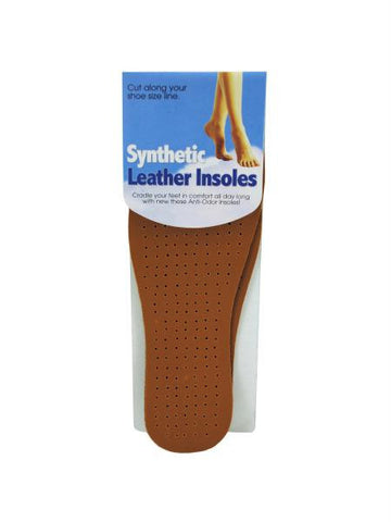 Synthetic Leather Insoles (Available in a pack of 12)