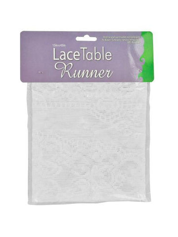 White Lace Table Runner (Available in a pack of 12)