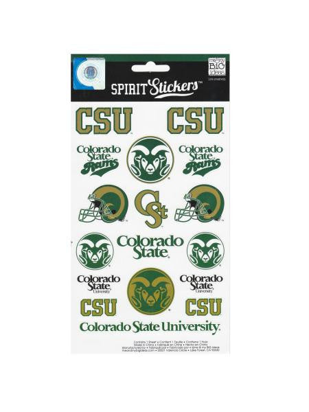 Colorado State University Spirit Stickers (Available in a pack of 24)