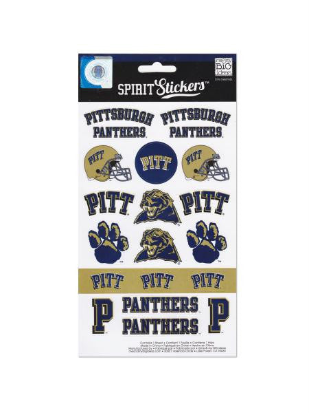 Pittsburgh Panthers Spirit Stickers (Available in a pack of 24)