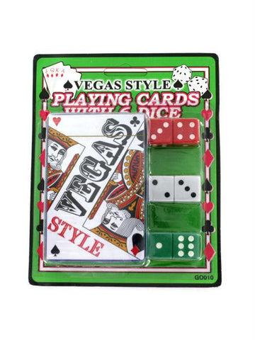 Casino Style Playing Cards with Dice (Available in a pack of 24)