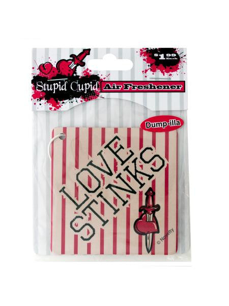 Stupid Cupid Air Freshener (Available in a pack of 24)