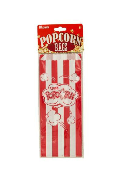 Striped Paper Popcorn Bags (Available in a pack of 24)