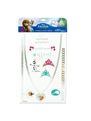 Disney Frozen Metallic Jewelry Tattoos (Available in a pack of 24)