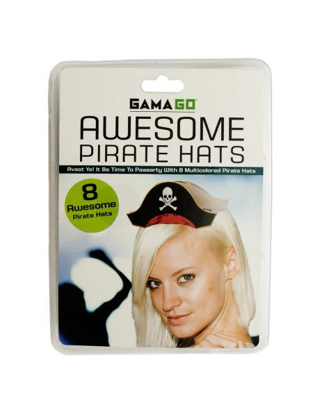 Awesome Pirate Party Hats (Available in a pack of 12)