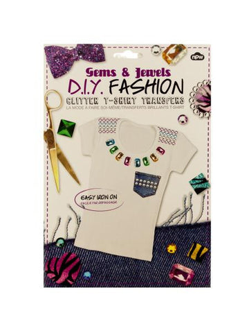 Do It Yourself Glitter T-Shirt Iron On Transfers (Available in a pack of 24)