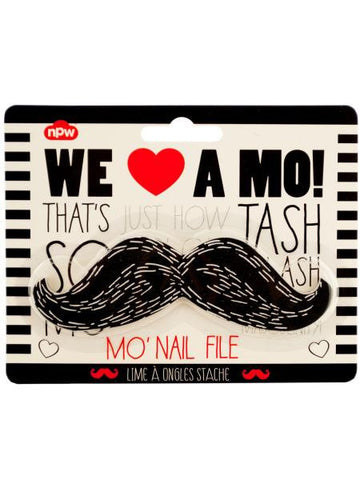Black Mustache Nail File (Available in a pack of 24)