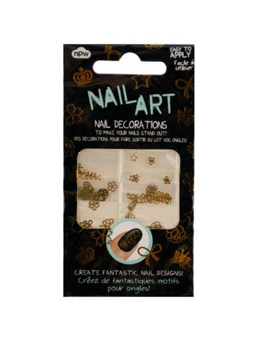 Gold Nail Art Nail Decorations (Available in a pack of 24)