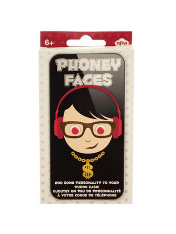 Phoney Faces Phone Stickers (Available in a pack of 24)