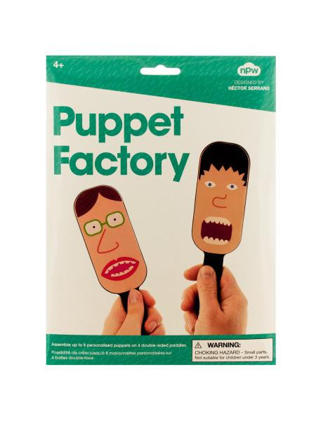 Puppet Factory Paddle Puppet Making Kit (Available in a pack of 24)
