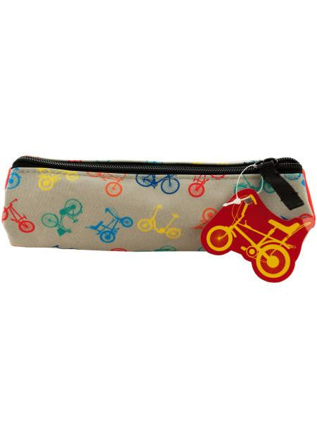 Bicycle Print Pencil Case (Available in a pack of 24)