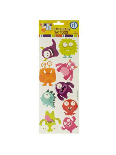 Monsterville Temporary Tattoos (Available in a pack of 15)