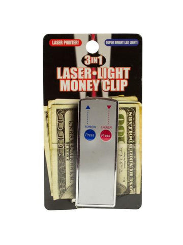 3 In 1 Laser Light Money Clip (Available in a pack of 24)