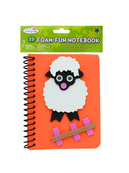 Lamb Foam Fun Notebook (Available in a pack of 24)