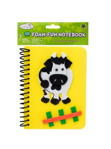 Cow Foam Fun Notebook (Available in a pack of 24)