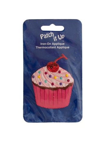 Cupcake Iron-On Applique (Available in a pack of 24)
