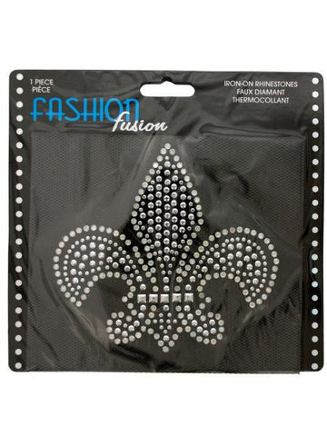 Fleur-de-lis Iron-On Rhinestones Decoration (Available in a pack of 24)