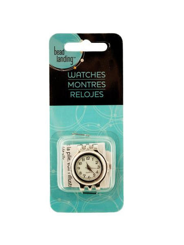 Craft Silver Tone Watch Head (Available in a pack of 24)