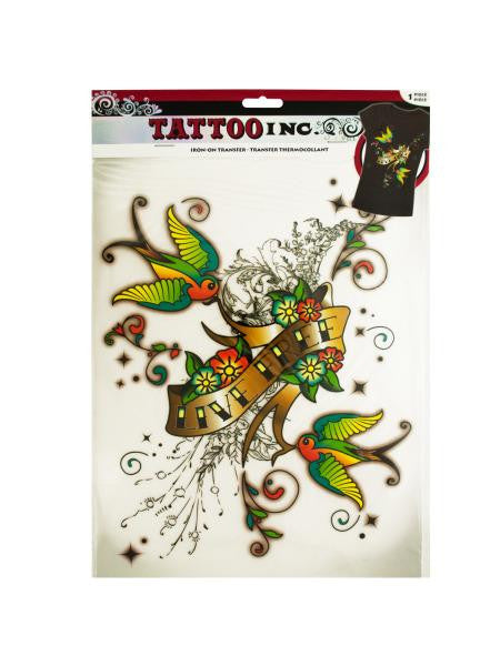 Iron-On Live Free Tattoo Transfer (Available in a pack of 24)