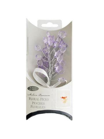 Lavender Faceted Drops Bouquet Floral Picks (Available in a pack of 24)