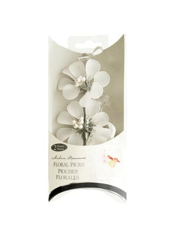 Frosted Clear Bouquet Floral Picks (Available in a pack of 24)