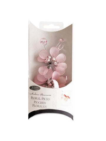 Frosted Pink Bouquet Floral Picks (Available in a pack of 24)