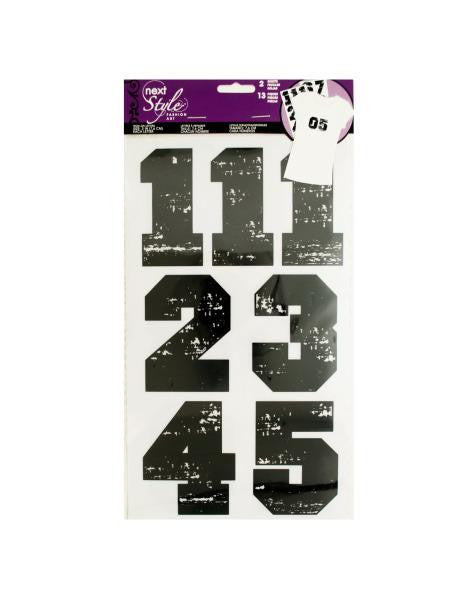 Iron-On Black Numbers (Available in a pack of 24)