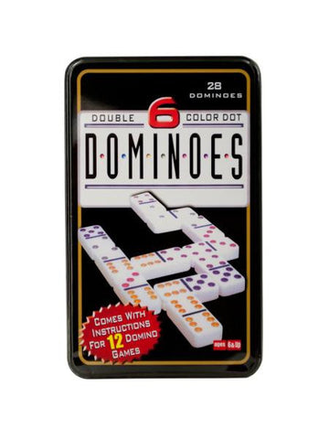 Double-Six Color Dot Dominoes Game Set (Available in a pack of 2)