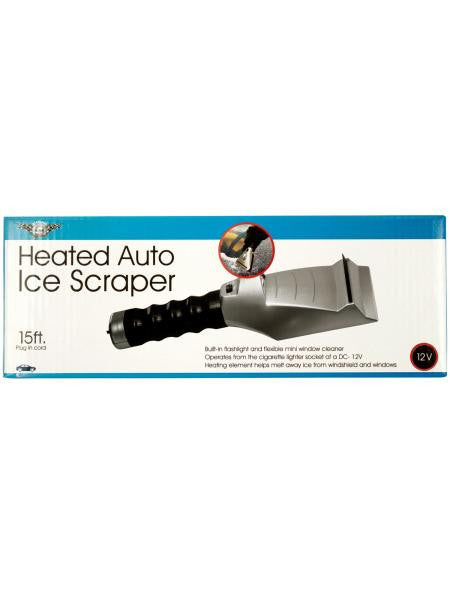 Heated Auto Ice Scraper with Flashlight (Available in a pack of 1)