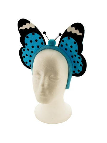 Blue Butterfly Headband (Available in a pack of 18)