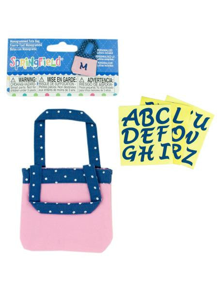 Monogrammed Tote Bag Doll Accessory (Available in a pack of 24)
