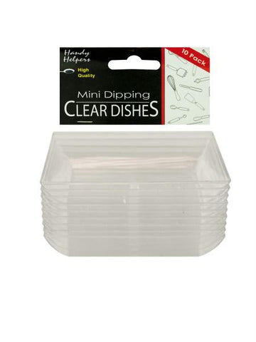Clear Mini Dipping Dishes Set (Available in a pack of 12)