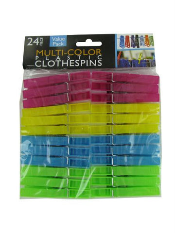 Multi-Color Plastic Clothespins (Available in a pack of 30)