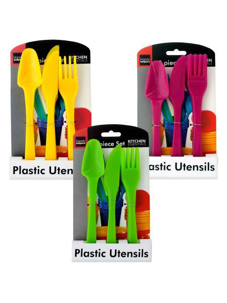 Bright Colors Plastic Utensils Set (Available in a pack of 24)