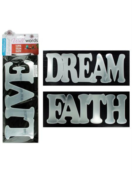 Self-adhesive inspirational words wall decor (Available in a pack of 12)