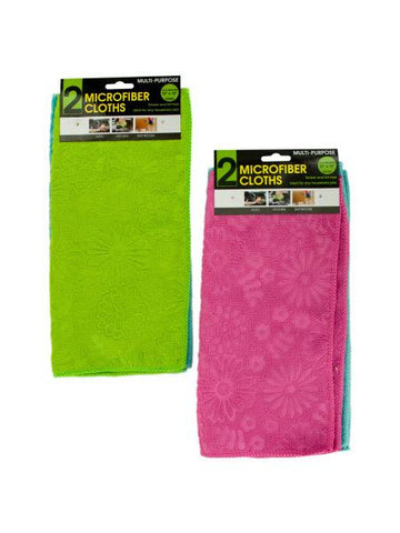 Multi-Purpose Floral Microfiber Cloths (Available in a pack of 24)