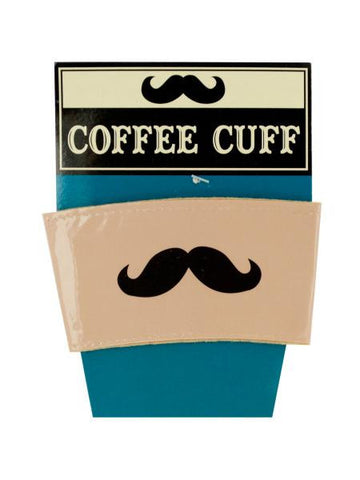 Vinyl Mustache Coffee Cuff (Available in a pack of 24)