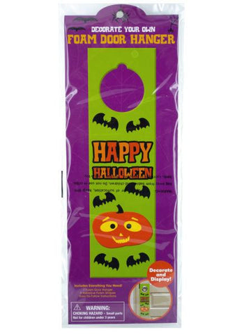 Halloween Decorate Your Own Foam Door Hanger (Available in a pack of 24)