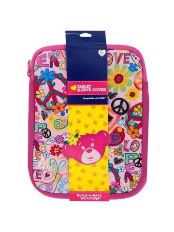 Build-a-Bear Peace & Love Tablet Sleeve Cover (Available in a pack of 12)