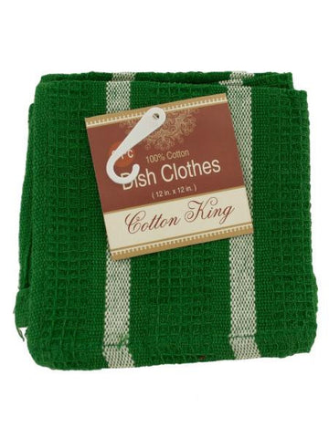 Cotton Striped Dish Cloths Set (Available in a pack of 18)