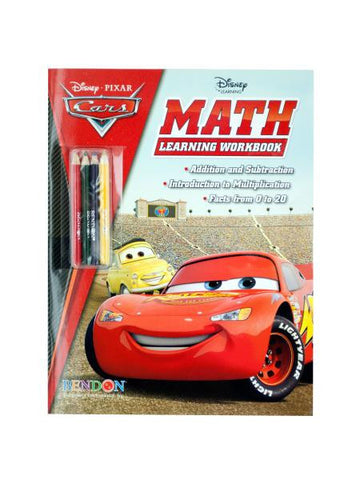 Disney Pixar Cars Math Workbook with Pencils (Available in a pack of 24)