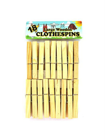 Wooden Clothespins (Available in a pack of 24)