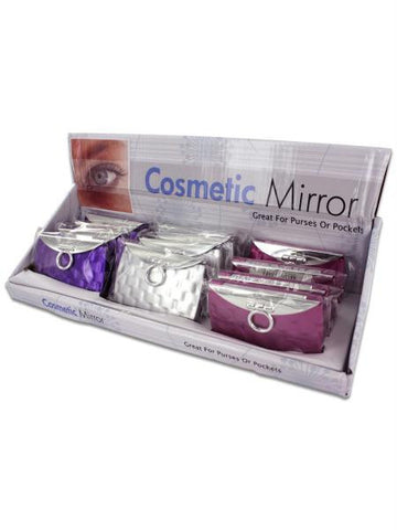 Purse Design Cosmetic Mirror Display (Available in a pack of 24)